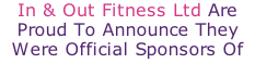 In & Out Fitness Ltd Are Proud To Announce They Were Official Sponsors Of The